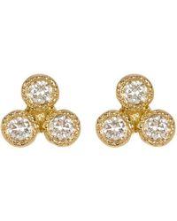 Bony Levy - 18k Yellow Gold Diamond Cluster Stud Earrings - 0.14 Ctw - Lyst