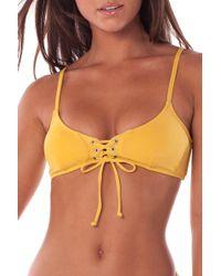 5a84ad66516598 Lyst - Rhythm My Tank Top Bikini Top in Orange