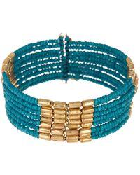 Panacea Seed Bead Cuff Bracelet
