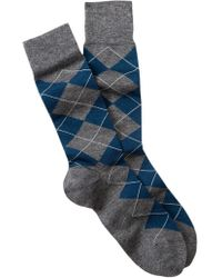 Cole Haan - Classic Argyle Crew Socks - Lyst