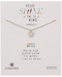 Dogeared - Sterling Silver Your Shine Wrapped Heart Bracelet - Lyst