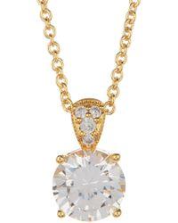 Nadri - Cz Drop Earrings & Pendant Necklace Set - Lyst