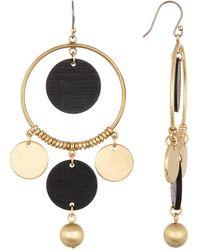 Lucky Brand - Wood Statement Dangle Earrings - Lyst