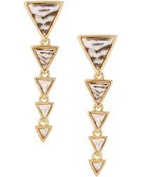 House of Harlow 1960 Meterora Resin Drop Earrings