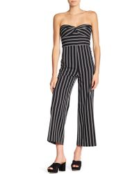 Veronica Beard - Cypress Stripe Strapless Jumpsuit - Lyst