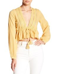 Free People - Oberoi V-neck Top - Lyst