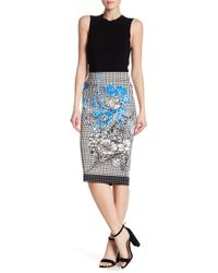 Eci - Patterned Pencil Skirt - Lyst