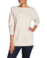 Max Studio - Side Zip Tunic Sweatshirt - Lyst