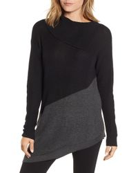 Vince Camuto - Asymmetrical Colorblock Tunic Sweater - Lyst