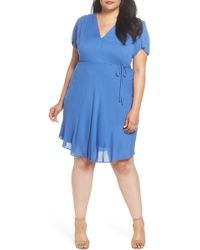 Glamorous - Tie Waist Tea Dress (plus Size) - Lyst