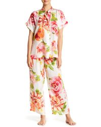 N Natori - South Pacific Floral Print 2-piece Pajama Set - Lyst