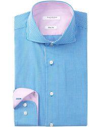 Isaac Mizrahi New York | Long Sleeve Slim Fit Check Dress Shirt | Lyst