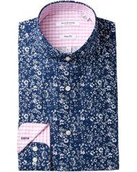 Isaac Mizrahi New York - Mini Floral Print Slim Fit Dress Shirt - Lyst