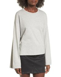 Lush | Tie Back Bell Sleeve Top | Lyst