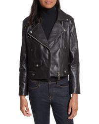 Rebecca Minkoff - Wes Leather Moto Jacket - Lyst