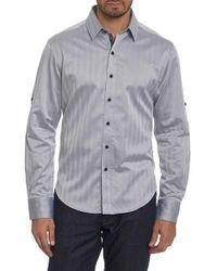 Robert Graham - Canton Herringbone Regular Fit Sport Shirt - Lyst