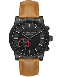 MICHAEL Michael Kors - Men's Scout Brown Leather Strap Watch, 43mm - Lyst