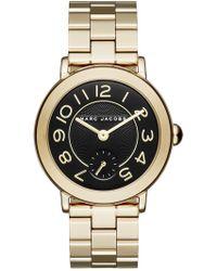 Marc Jacobs - Women's Riley Gold-tone Bracelet Watch, 37mm - Lyst