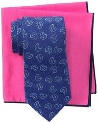 Ted Baker - Scroll Pine Silk Tie & Pocket Square Set - Lyst