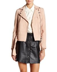 Muubaa - Warren Genuine Suede Belted Biker Jacket - Lyst