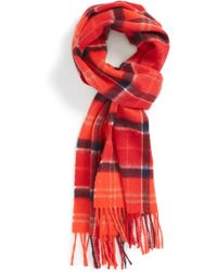 Barbour - Merino Wool & Cashmere Scarf - Lyst