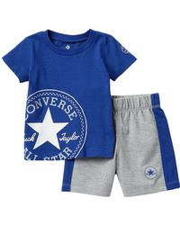 7798ddb4bfea Lyst - Converse All Star Core Jersey Shorts Grey in Gray for Men