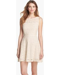 BB Dakota - 'Renley' Lace Fit & Flare Dress (Nordstrom Exclusive) - Lyst