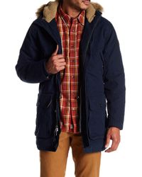 Timberland - Scar Ridge Faux Shearling Lined Waxed Parka - Lyst