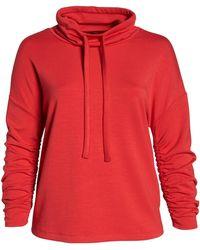 Halogen - (r) Cowl Neck Sweatshirt (plus Size) - Lyst