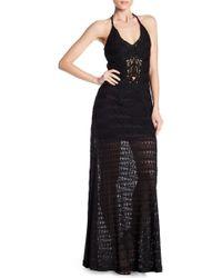 Sky - Galochka V-neck Crochet Knit Dress - Lyst