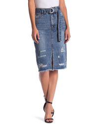 Mustard Seed - Belted Denim Skirt - Lyst