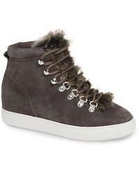 Steven by Steve Madden - Kalea-f Faux Fur Hidden Wedge Sneaker - Lyst