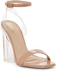 Elegant Footwear - Tianay Lucite Block Heel - Lyst