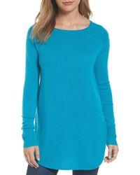 Halogen - Shirttail Wool & Cashmere Boatneck Tunic (petite) - Lyst