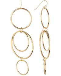 A.V. Max - Mod Statement Circles Dangle Earrings - Lyst