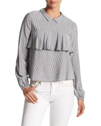 BCBGeneration - Ruffled Striped Top - Lyst