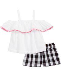 Kate Spade - Cold Shoulder Top & Gingham Shorts (baby Girls) - Lyst