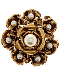 Marc By Marc Jacobs - Large Faux Pearl Flower Brooch - Lyst