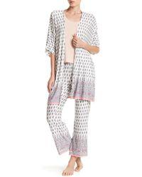 Pj Salvage - Floral & Paisley Print Short Sleeve Kimono - Lyst