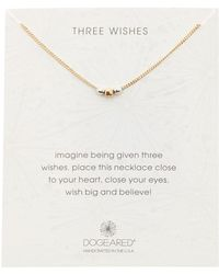 Dogeared - Three Wishes Faceted Beaded Necklace - Lyst