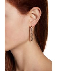 Judith Jack - Sterling Silver Swarovski Marcasite Embellished Threader Earrings - Lyst