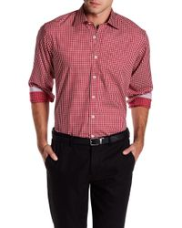 Bugatchi - Chequered Woven Classic Fit Shirt - Lyst