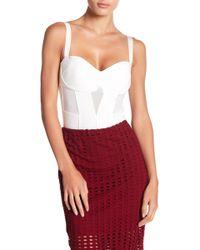 Kendall + Kylie - Mesh Paneled Bodysuit - Lyst