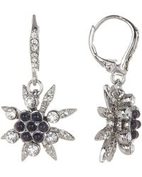 Jenny Packham - Glass Crystal Embellished With Cluster Bead Drop Earrings - Lyst