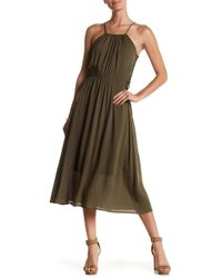 Fraiche By J - Side Lace-up Maxi Dress - Lyst