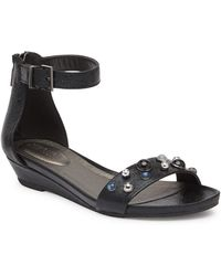 Kenneth Cole Reaction - Great Vibe Embellished Wedge Sandal - Lyst