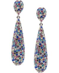 Jardin - Stone Teardrop Earrings - Lyst