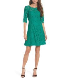 Eliza J - Lace Fit & Flare Dress - Lyst