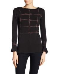 Go Couture - Long Sleeve Ruffle Pullover - Lyst