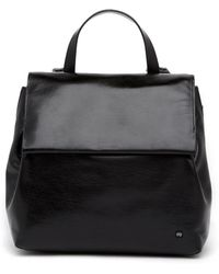 Halston - Small Leather Flap Backpack - Lyst